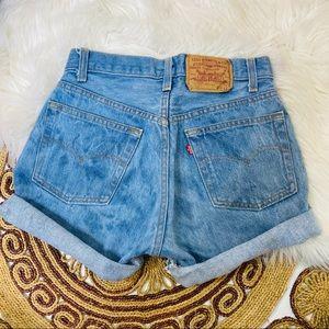 Vintage Levi's 501 High Rise Cut Off Shorts